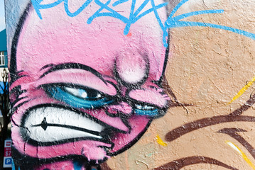 Angry graffiti face