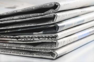 プレスされた新聞