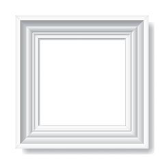 White frame for photographs.