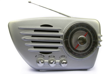 Chrome retro radio