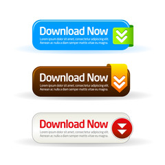 Download now modern button collection