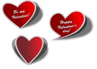 Valentine' s day stickers