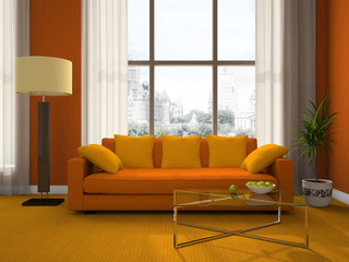 Part of the modern living-room