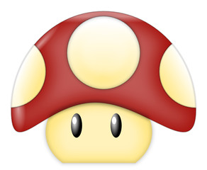 Red Cartoon Mushroom