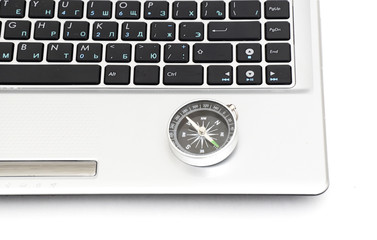 compass on the laptop keyboard