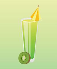 cocktail with kiwi