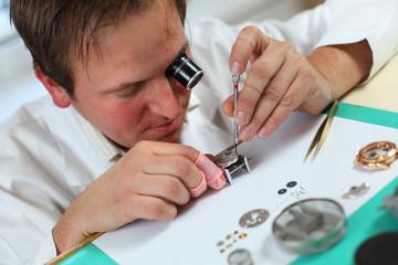 watchmaker in worskhop