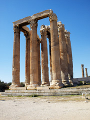 Ruins of Olympian Zeus temple,  Athens Greece