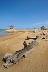 meditation hut at sanur beach bali
