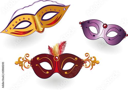 Masken Karneval Fasching Bunt Vector Stock Image And Royalty