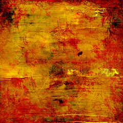 red gold grunge texture - cracked varnish surface