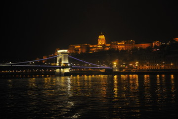 hungary budapest at night