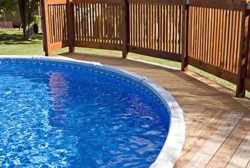 Pool Deck with Railing