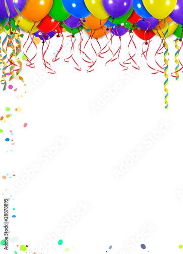 Hintergrund Luftballons Oben Schwebend Hochformat Stockfotos Und