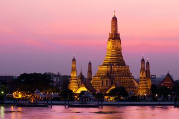 Foto auf Acrylglas Bangkok Wat Arun (Temple de l'Aube), Bangkok, Thaïlande