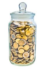 Euro Münzen im Einmachglas