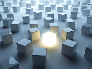 Luminous cube. Individuality