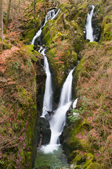 Stock Ghyll waterfall in the English Lake District