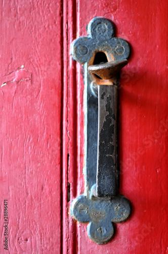 Poign e porte ancienne photo libre de droits sur la for Poignee de porte interieure ancienne