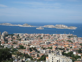 Marseille view with Frioul Islands