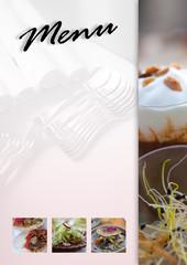 Menu carte restaurant gastronomie cuisine bistrot repas