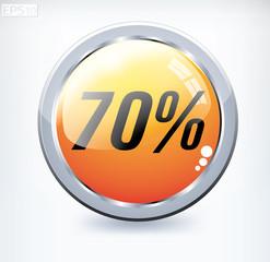 70 percent button