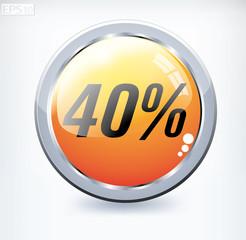 40 percent button