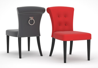red & black chair