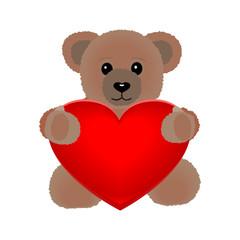 Teddy Bär mit Herz - Vector