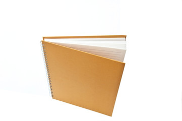 vertical notebook as white isolate background
