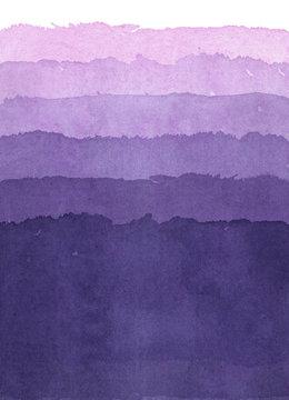 水彩による紫のグラデーション