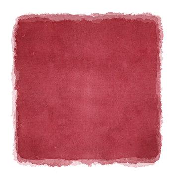 水彩による赤の抽象画