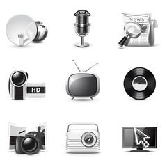 Media icons | B&W series