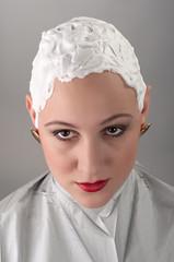 Shaven girl