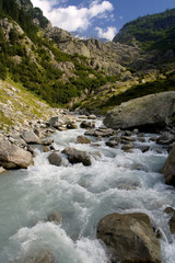 Mountain stream in Alps - Trift