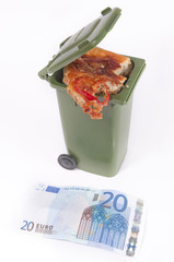Euros y comida basura