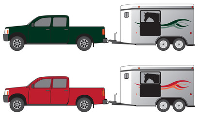 PIckup with horse trailer