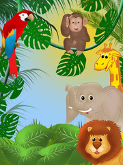 Fototapeta premium Śliczne tło dżungli