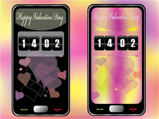 Touchscreen mobile for Valentine Day