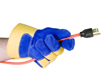 power cord isolated with path
