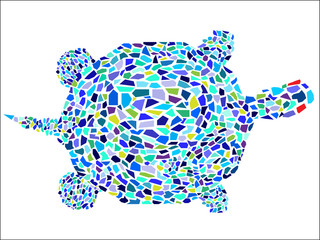 Vector Mosaic Turtle