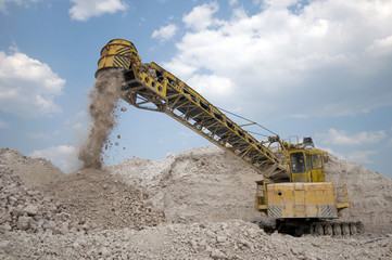 machine produces clay