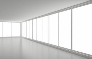 New clean interior, corner and windows
