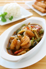 Thai Spicy Basil Shrimp