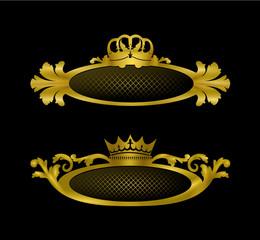 diadème reine et roi design or