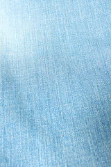 Texture of pale blue jeans.