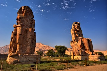 The Colossi of Memnon (1350 BC). Luxor, Egypt