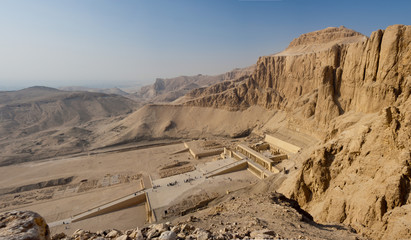 Panorama of the Memorial Temple of Hatshepsut . Luxor, Egypt