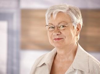 Portrait of female pensioner