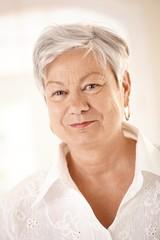 Closeup portrait of elderly woman